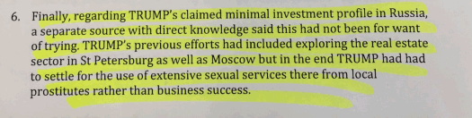 Alleges that he bought prostitutes. Contains typo.
