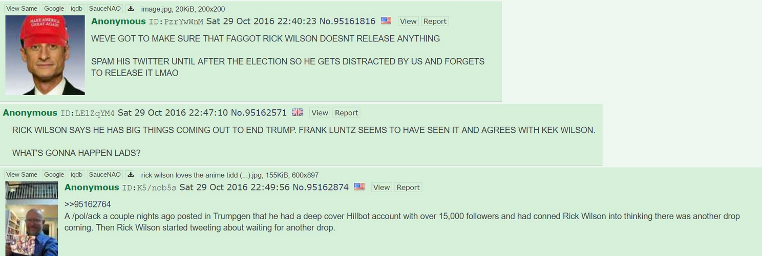 4chan post about trolling Rick Wilson