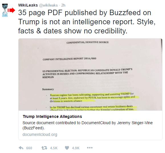 WikiLeakstweet about Pissgate