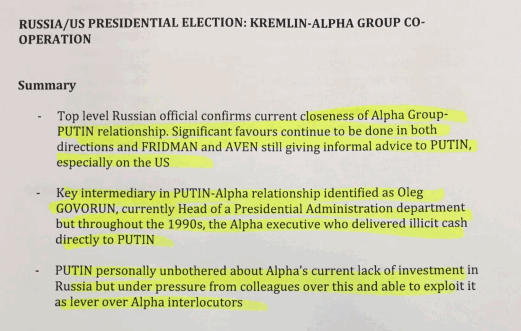 Alfa Group-Putin relationship