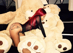 With teddy bears