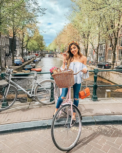 Biking in                               Amsterdam                              ​