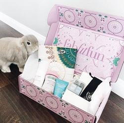The FabFitFun box with a bunny.