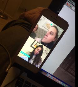 Karlee Grey using Houseparty (app)