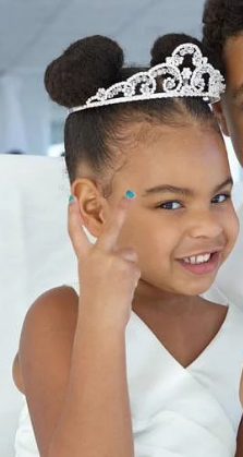 Blue Ivy at a yacht party.