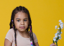 Blue Ivy with braids.