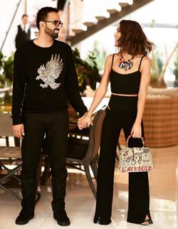 Camila Coelho and her husband