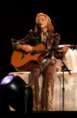 Madonna performing on the                                 Drowned World Tour                                , 2001
