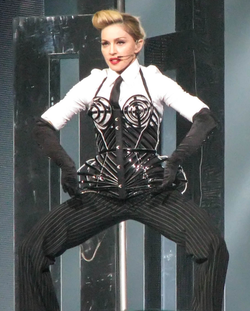 Madonna performing during                                 The MDNA Tour                                , 2012