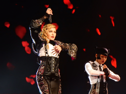 Madonna performing during the                                 Rebel Heart Tour                                , 2015