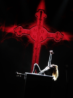 Madonna's use of religious symbolism during                                 The MDNA Tour                                in 2012