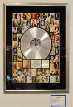 GHV2                                                 platinum record on display at the                                 Julien's Auctions                                (2011)