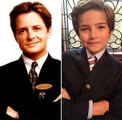 Pictured next to Michael J Fox​