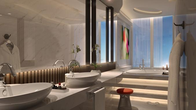 DoubleTree by Hilton Hotel Doha Old Town, Qatar- Guest Bathroom