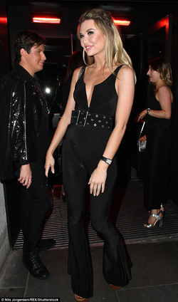 Georgia Toffolo in a black jumpsuit