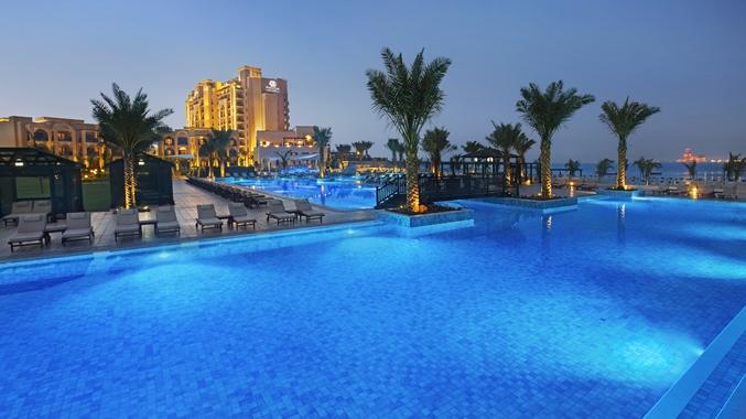 Villa Pool Night