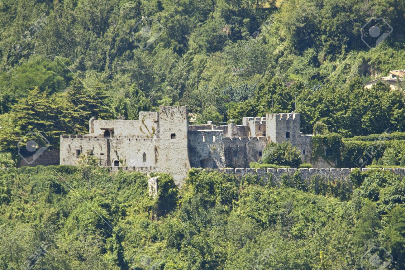 Castello di Salle, in the town where she grew up