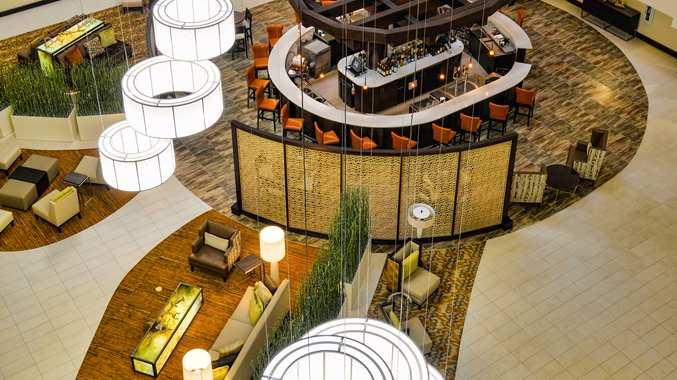 Aerial of Lobby/Reception Area