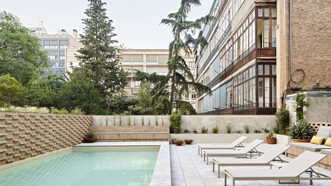 Pool Terrace, Side View