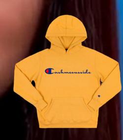 """The """"logo flip"""" hoodie."""