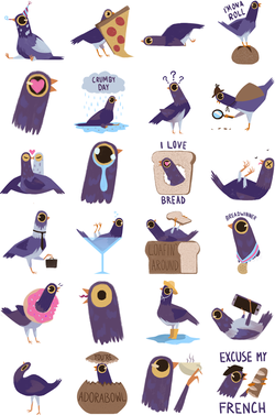 Trash Doves come in different forms and varieties