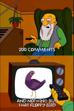 Simpsons meme of the Trash Dove