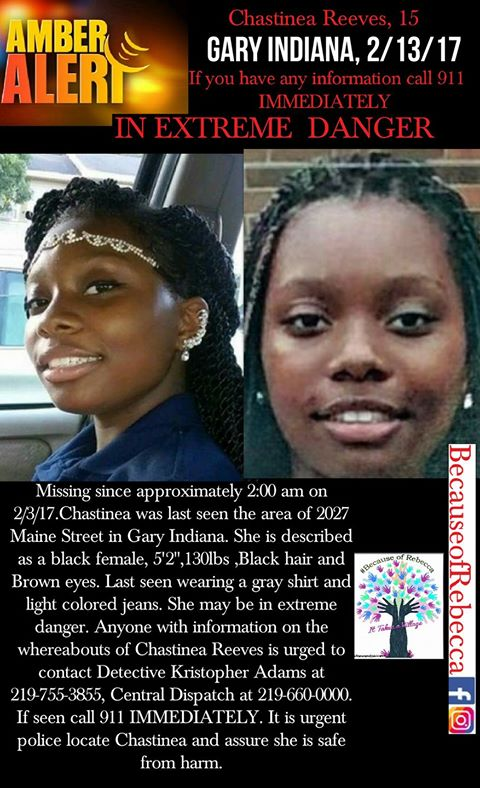 Poster to help find Chastinea