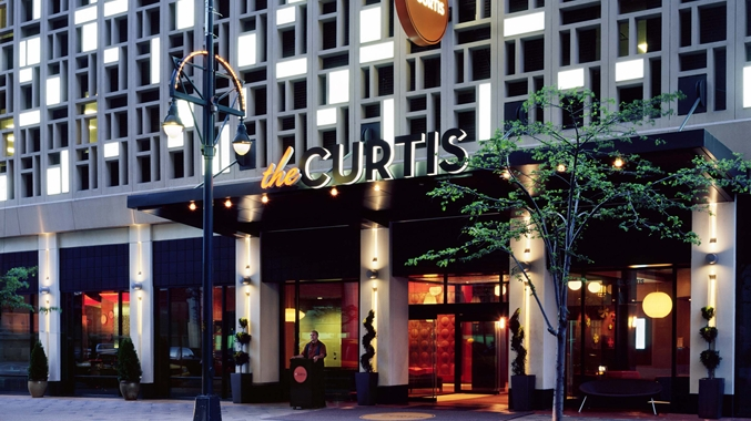 Curtis Hotel Exterior, Front Entrance