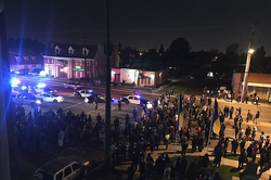 Protests erupted at his residence inAnaheim, California