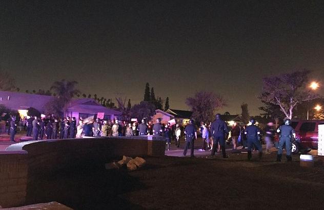 Protestors inAnaheim, California