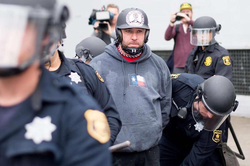 Based Stick Man being held by the authorities