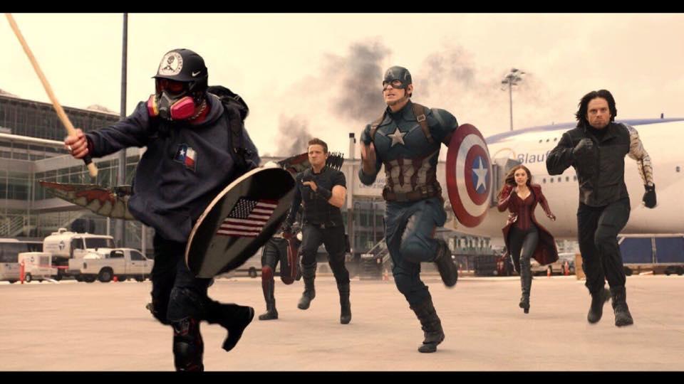 Based Stick Man leading the Avengers