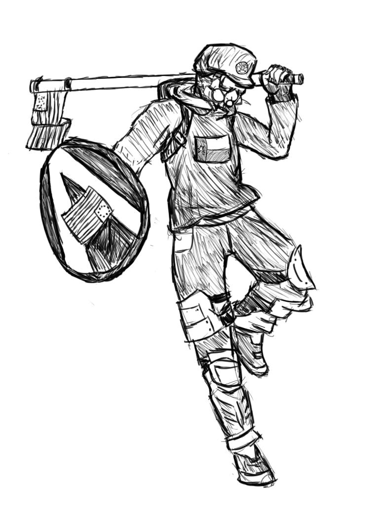 Drawing of Based Stick Man