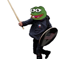"Pepe the Frog as Based Stick Man (Praise Kek): ""Did you know based stickman is an ethnic Kekistani?"" (credit: @ArmyofKek; March 6, 2017)"