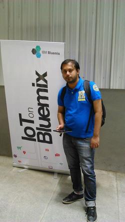Shikhar Srivastava at the                                                IBM Bluemix Internet of Things Bootcamp (June 2015).