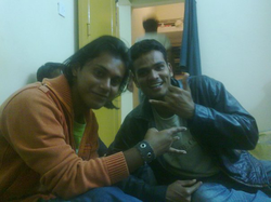 Shikhar Srivastava with Dilip Joshi (former Qualcomm and Google Project Ara engineer) at a college party (2010).