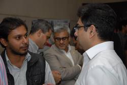 Shikhar Srivastava seen talking to Amit Chatrath, Lenovo IndiaLead - Consumer Notebook Division (APAC) at a Lenovo event (September 2013)