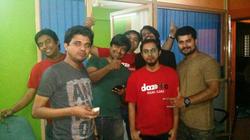 Shikhar Srivastava with the Dazeinfo team (June, 2014)