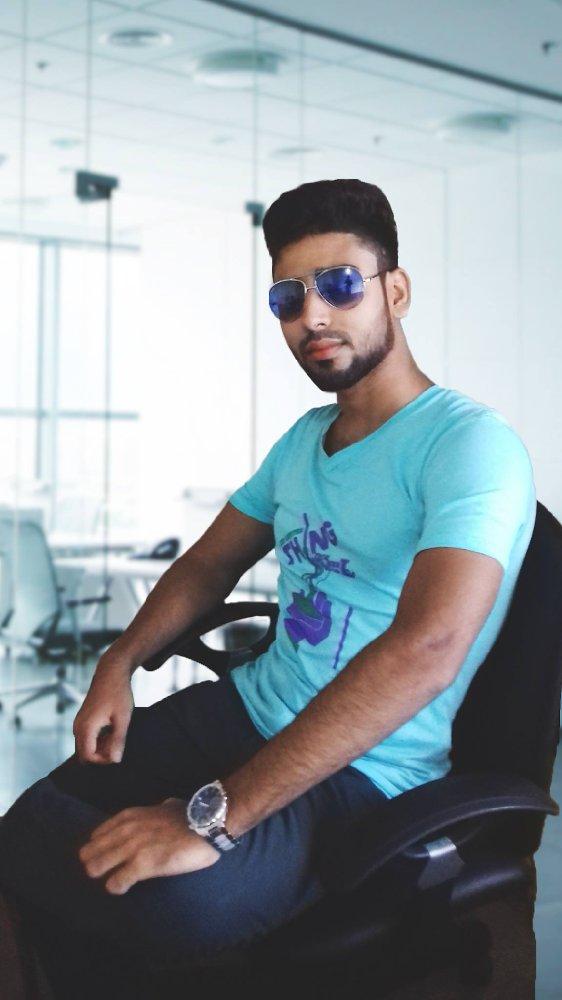 Aryan Ashik in an office