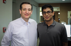 Ishan Goel meets Ted Cruz
