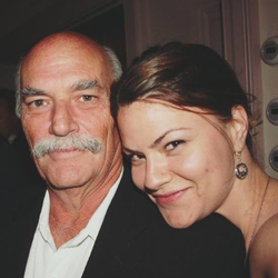 Corrina with her father.