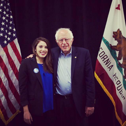 Belen Sisa and Bernie Sanders