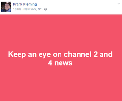 Fleming's post about being on the news