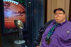 Frank Fleming with the  Lombardi Trophy