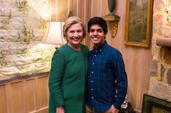 Ziad Ahmed and Hillary Clinton