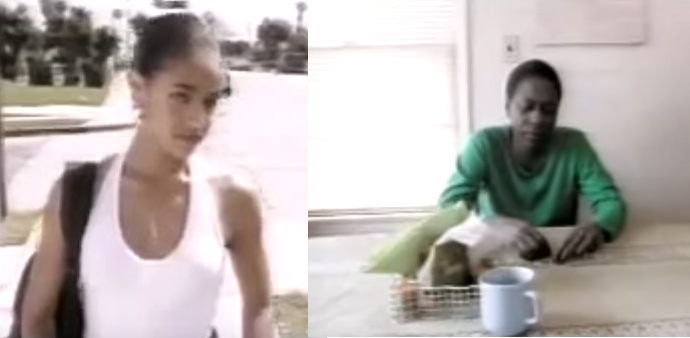 "Jada Pinkett Smith (left) and Afeni Shakur (right) appear in 2Pac's ""Keep Ya Head Up"""