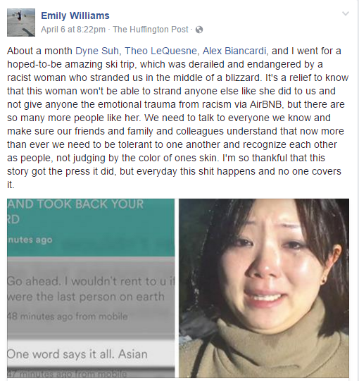 Dyne Suh's friend, Emily Williams names the four peoplewho were on the trip