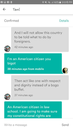 """""""And I will not allow this country to be told what to do by its foreigners"""""""