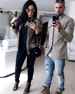Photo of Huda and her husbandChristopher Goncalo