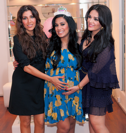 Photo of Huda at her baby shower before she had her daughter Nour[7]